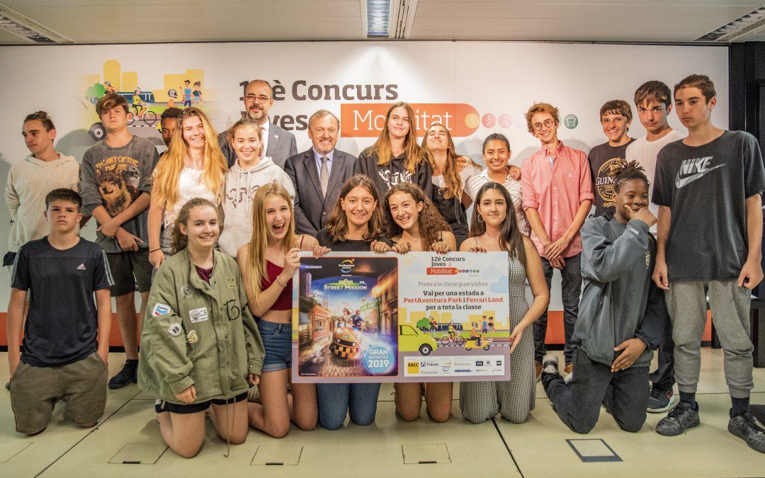 El concurs Joves i Mobilitat 2019 premia els millors treballs sobre la seguretat viària i l'ús adequat del mòbil en els desplaçaments